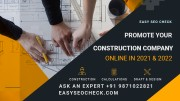 Promote Construction Company Online in 20121 & 2022?